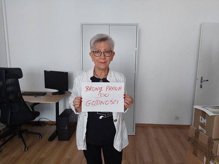 Danuta Przywara w kampanii Wszyscy jesteśmy rzecznikami