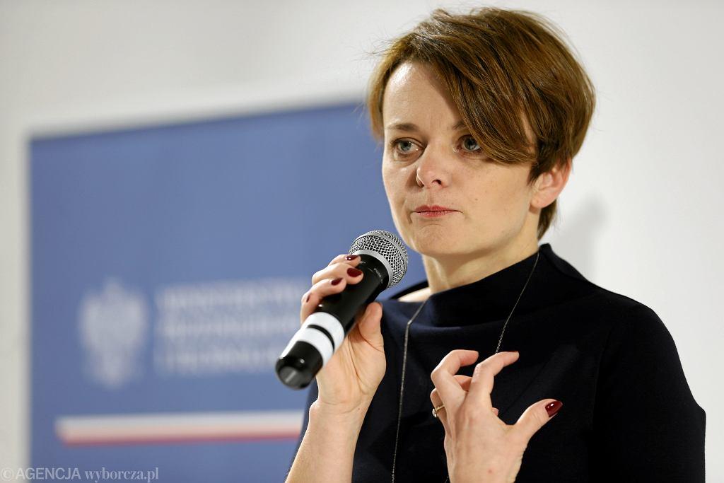 Minister przedsiębiorczości i technologii Jadwiga Emilewicz podczas szczytu klimatycznego COP24. Katowice, 5 grudnia 2018