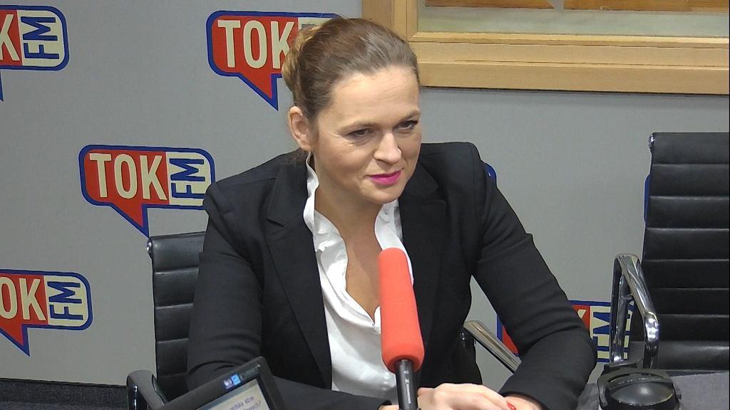 Barbara Nowacka (Inicjatywa Polska) w studiu TOK FM.