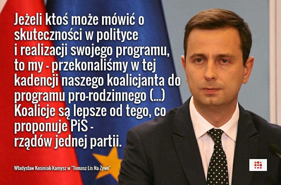 Władysław Kosiniak-Kamysz w programie 'Tomasz Lis Na Żywo'