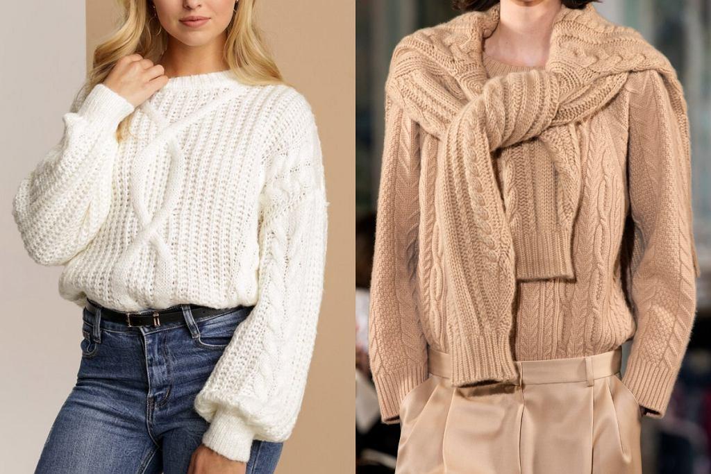 Swetry z grubym splotem