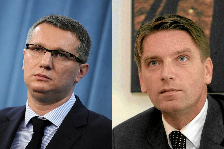 Przemysław Wipler i Tomasz Lis