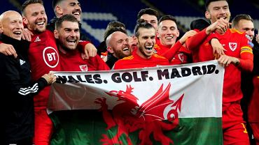 'Walia, golf, Madryt'. Kontrowersyjny transparent na meczu Walia - Węgry