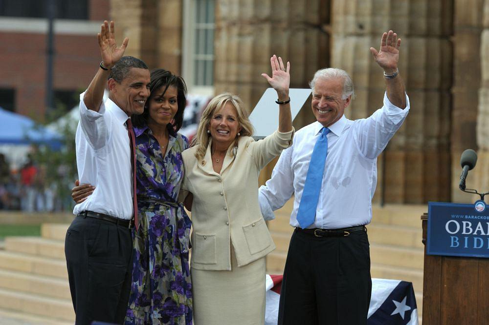 Joe Biden i Barack Obama z żonami
