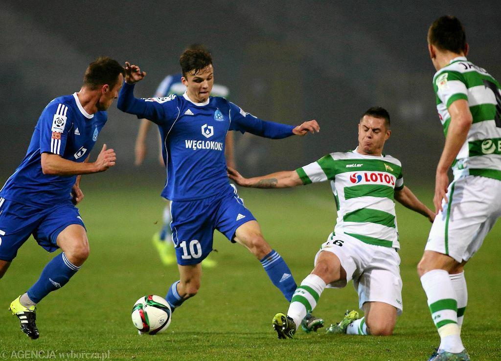 Ruch Chorzów w meczu z Lechią Gdańsk