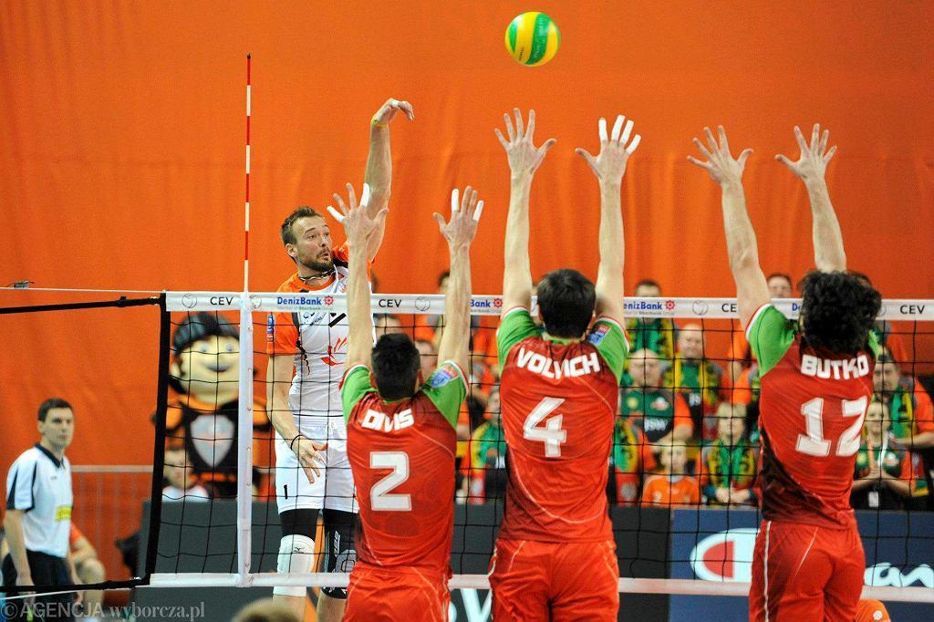 Jastrzębski Węgiel - Lokomotiw Nowosybirsk 1:3 w fazie grupowej Ligi Mistrzów