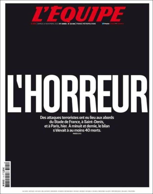 """Prasa po zamachach w Paryżu. """"Europanika. Piłka we krwi"""""""