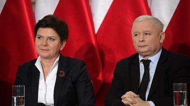 Premier Beata Szydło i prezes PiS Jarosław Kaczyński.