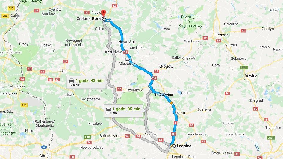 Do poważnego popękania drogi S3 doszło na odcinku między Legnicą a Zieloną górą