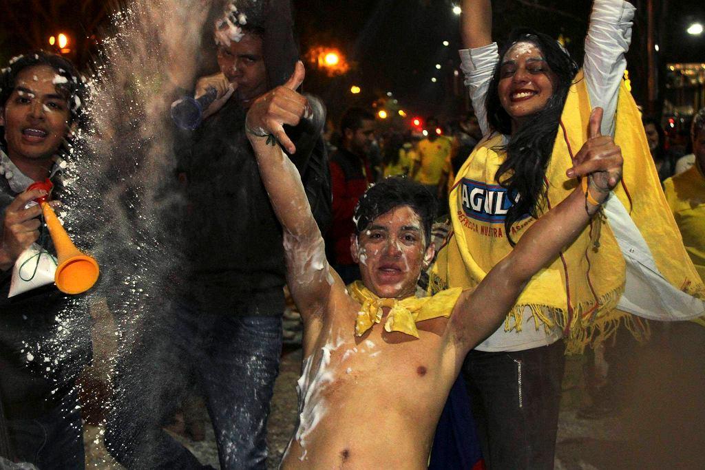 Tak świętowali kibice kolumbijscy awans na mistrzostwa świata