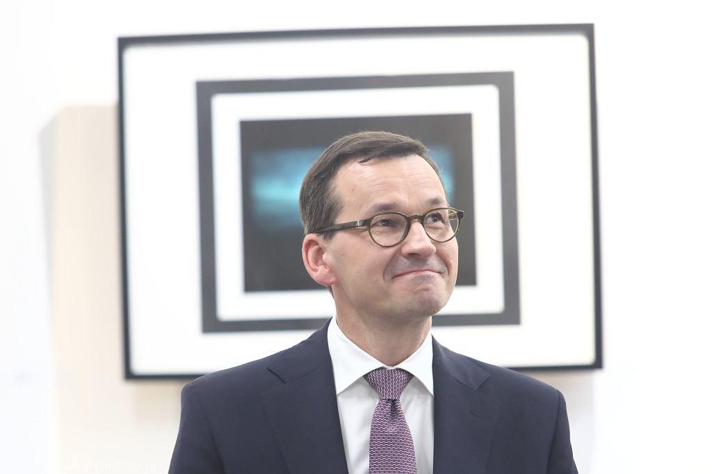 Premier rządu PiS Mateusz Morawiecki podzas spotkania z seniorami. Myślenice, 9 września 2019