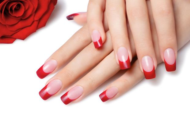 French Red Nails