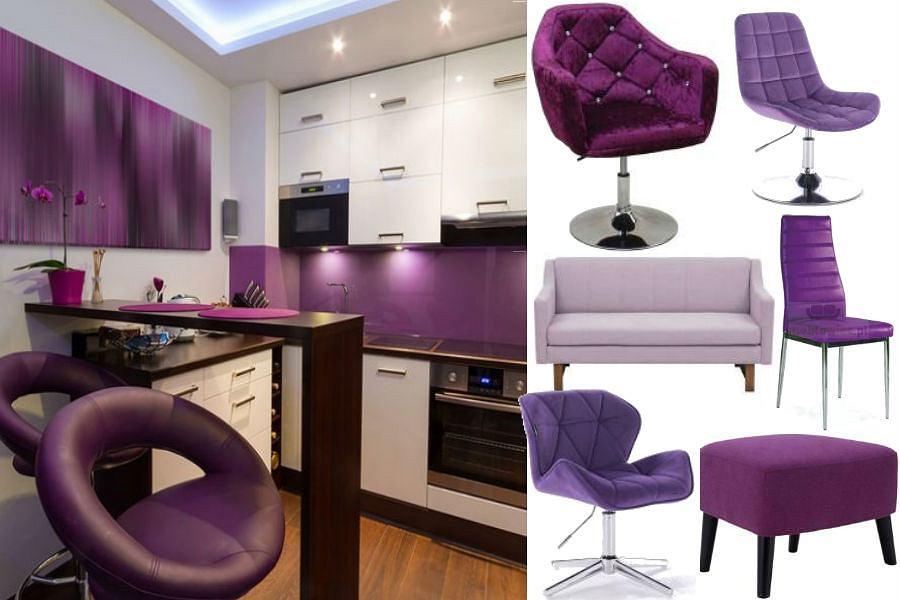 Meble w kolorze ultra violetu