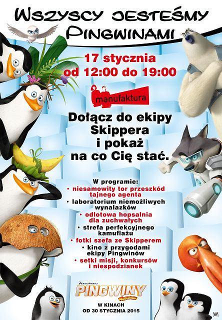Spotkanie z Pingwinami z Madagaskaru Łódź