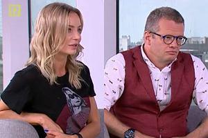 Agnieszka Woźniak-Starak i Marcin Meller w 'Dzień dobry TVN'