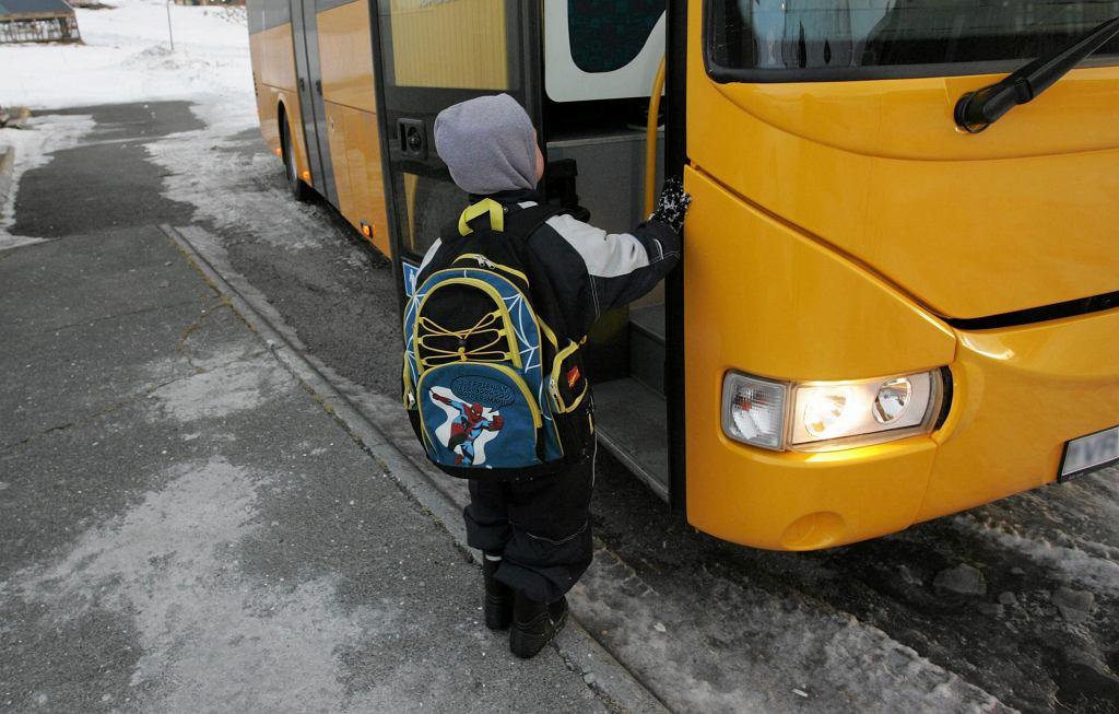 Turek. Wiatr zepchnął do rowu autobus szkolny, pięcioro dzieci jest w szpitalu (zdjęcie ilustracyjne)