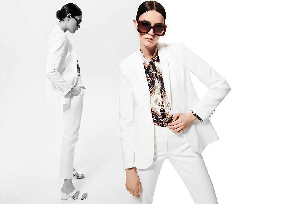biały garnitur MOHITO