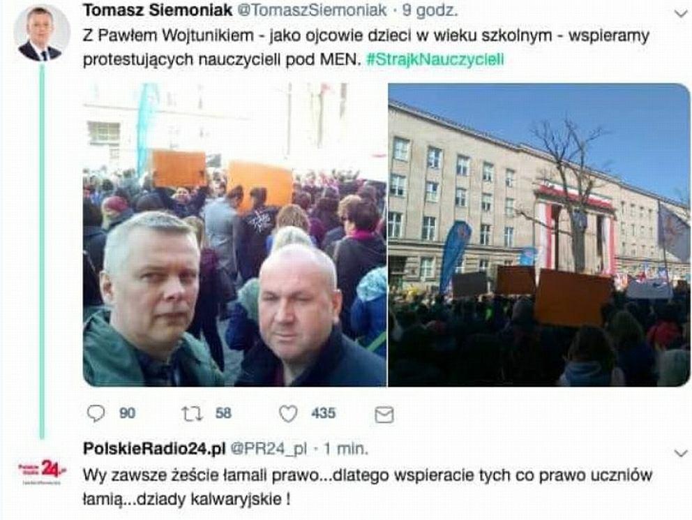 Polskie Radio 24 obraźliwie skomentowało wpis Tomasza Siemoniaka