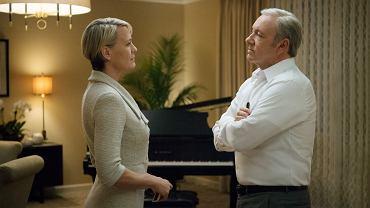 Claire i Frank Underwoodowie w 'House of Cards'. Takiej sceny już nie zobaczymy
