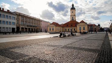 Opustoszały Białystok, koronawirus