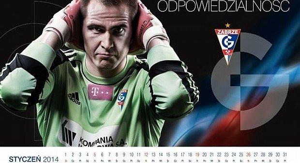 Kalendarz Górnika Zabrze na rok 2014. Pavels Steinbors