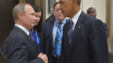 Władimir Putin i Barack Obama na spotkaniu G20 w Chinach
