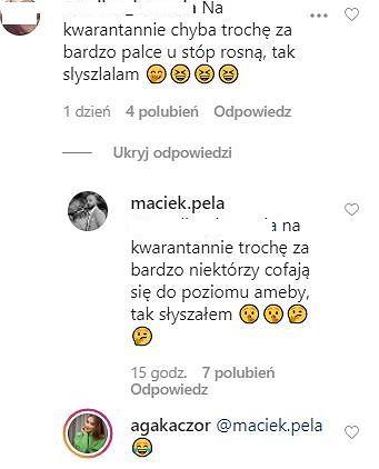 Komentarze na Instagramie Agnieszki Kaczorowskiej