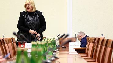 Komisarz UE Dunja Mijatovic podczas posiedzenia Sejmowej Komisji Spraw Zagranicznych. Warszawa, 9 stycznia 2018