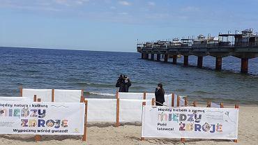 Plaża sektorowa w Międzyzdrojach