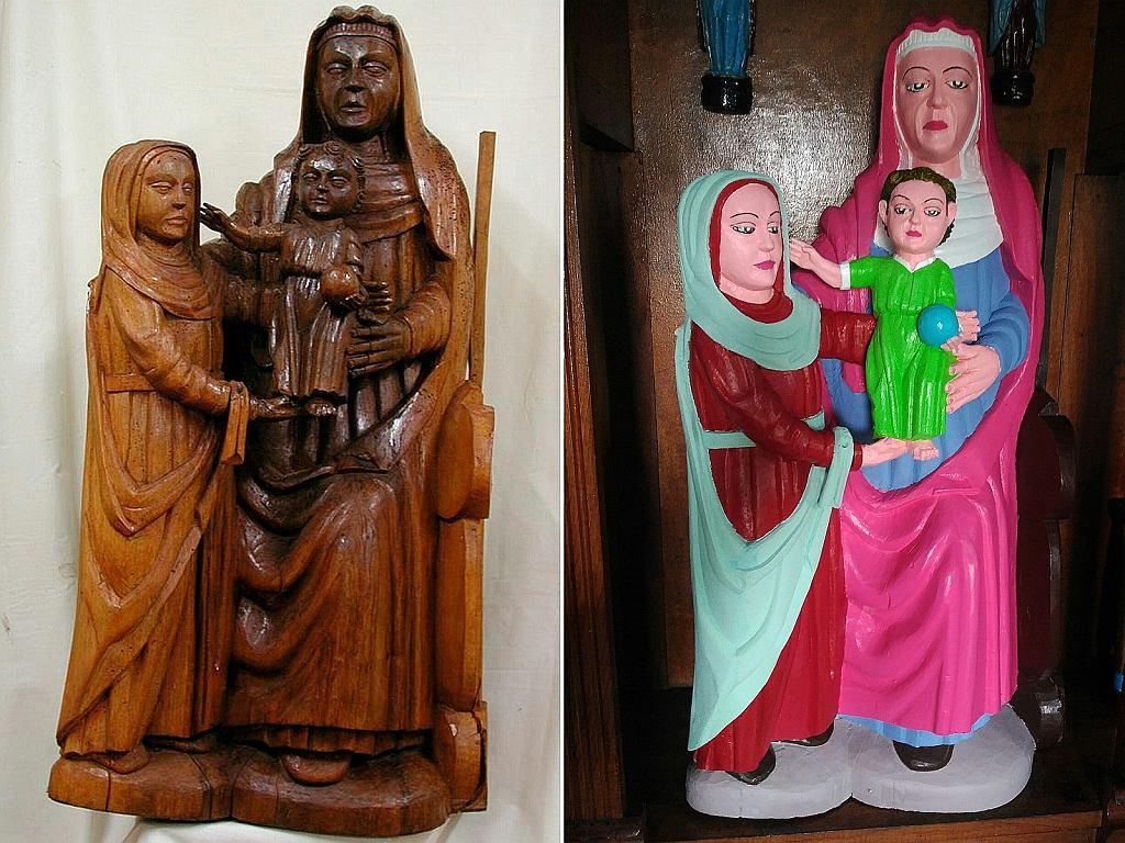 Kobieta odrestaurowała rzeźbę w kościele w El Ranadoiro