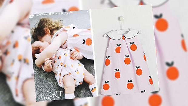 Anna Lewandowska ubrała córki w podobne stylizacje w mandarynki. Cena zawrotna. Same skarpety ponad 70 zł
