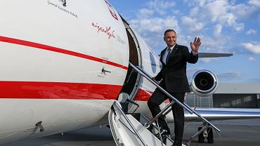 Prezydent Duda wylatujący do USA
