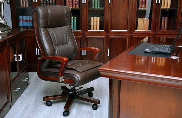 Skórzany fotel biurowy
