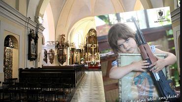 Zdjęcie dziewczynki z karabinem na profilu Wydawnictwa Ojców Franciszkanów