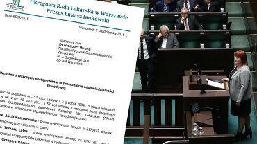 Sejm. Debata nad projektem antyszczepionkowców