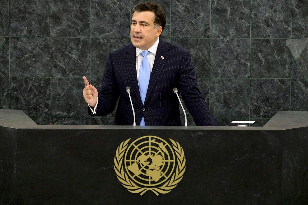 Prezydent Gruzji podczas wystąpienia w ONZ