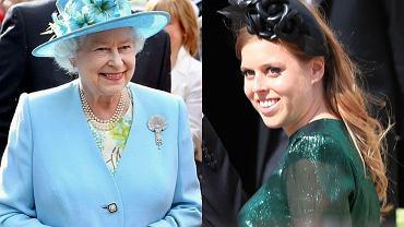 Królowa Elżbieta II i księżniczka Beatrice