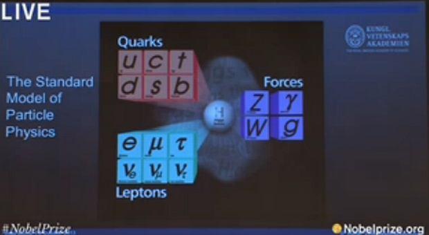 Fragment prezentacji laureatów tegorocznej Nagrody Nobla z fizyki