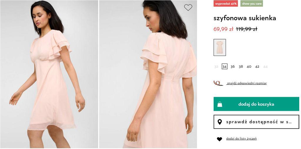 Sukienka koktajlowa, Orsay