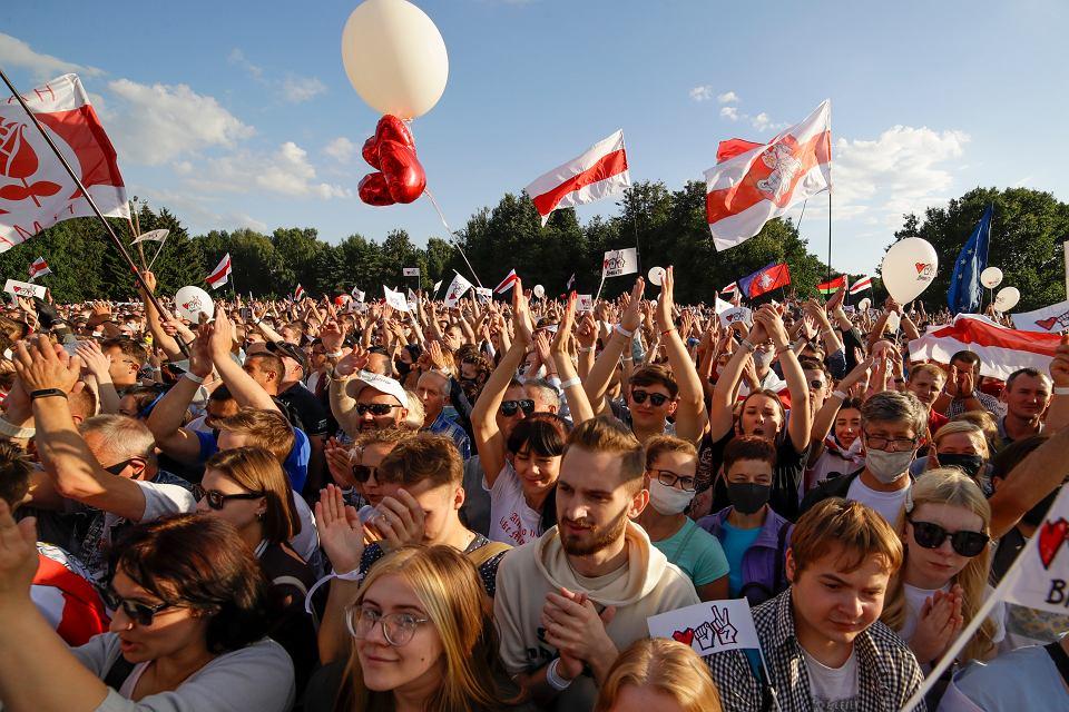 Wiec białoruskiej opozycji w Mińsku, 30 lipca 2020 r.
