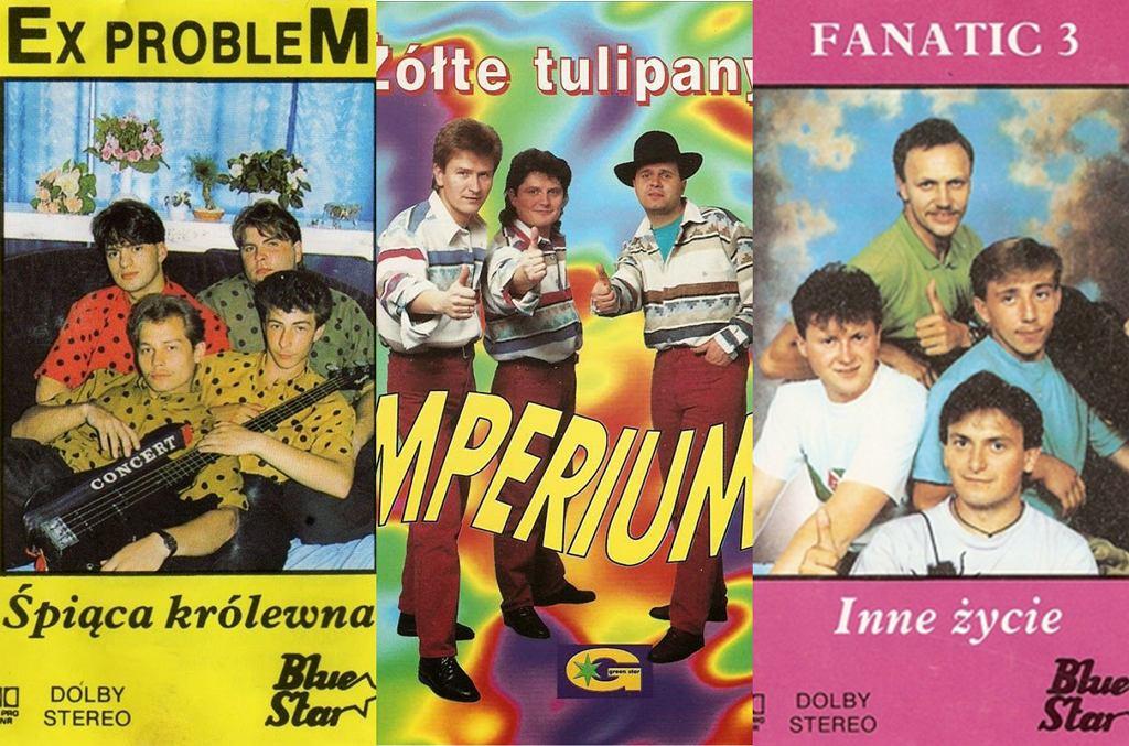Okładki kaset disco polo z lat 90.