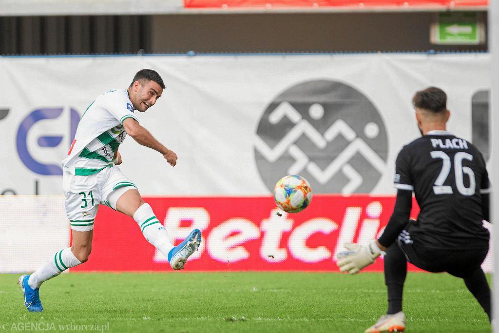 Strzela piłkarz Lechii Żarko Udovicić. Zagra z Zagłębiem Lubin na lewej obronie?