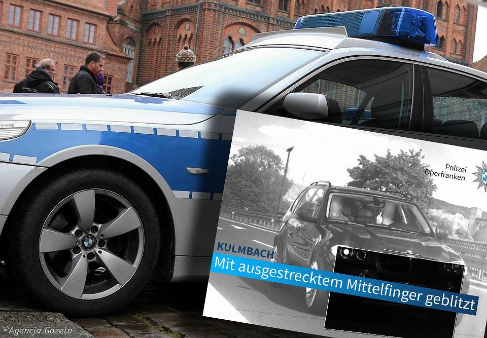 Kierowca ukarany grzywną 1500 euro za obraźliwy gest