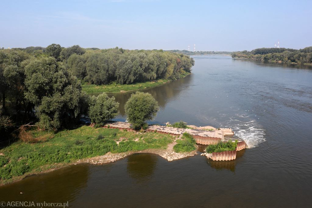 Miejsce zrzutu ścieków do Wisły w Warszawie