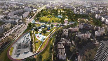 Koncepcja zmian w Parku Jaworek w Tychach