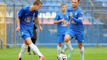 Lech Poznań - Pogoń Szczecin 0:0 w sparingu rozegranym we Wronkach. Z piłką Krzysztof Gładosz