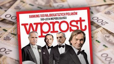 Wprost opublikował ranking '100 najbogatszych Polaków stulecia'