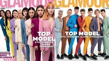 Okładki październikowego wydania magazynu 'Glamour'