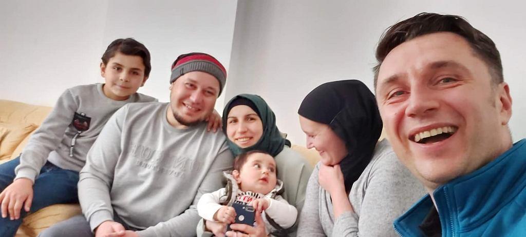 Dziennikarze Piotr Czaban i Karolina Baca-Pogorzelska z syryjskimi przyjaciółmi - Omarem i Assmą Halabi