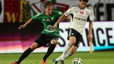 Bartosz Bereszyński i Patrik Mraz podczas meczu Legia - Górnik Łęczna (5:0)